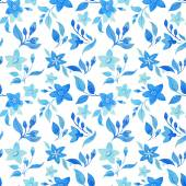 Vintage blue  flowers  pattern — Stock Photo