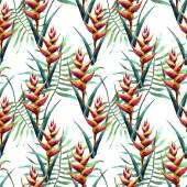 Watercolor tropical pattern — Stock Photo