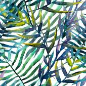 Watercolor tropical pattern — Vecteur