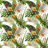 Watercolor Hawaii background — Stock Vector