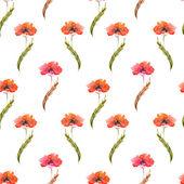 Akwarela kwiaty maku — Wektor stockowy