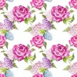 Watercolor rose patter for wallpaper — Stock fotografie #63271739