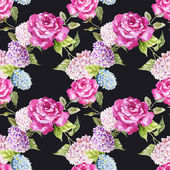Watercolor rose patter for wallpaper — Stock Photo