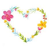 Wreath in a heart shape frame — Stock Photo