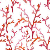 Ocean watercolor coral pattern — Stock Photo