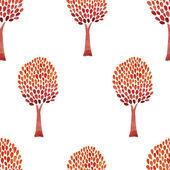 Watercolor trees -  baby pattern — Stockvektor