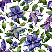 Watercolor flower pattern for  background — Vettoriale Stock