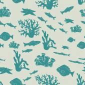 Ocean fish pattern — Stock Vector