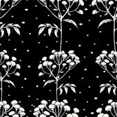 Wallpaper gentle  tansy pattern — Stockvector