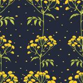 Wallpaper gentle  tansy pattern — Stock Vector