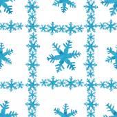 акварельный образец снежинок — Cтоковый вектор
