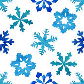 Watercolor winter  snowflakes pattern — Stock Vector