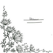 Fennel dill element — Vetor de Stock