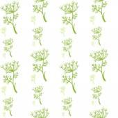 Fennel dill pattern — Stock Vector