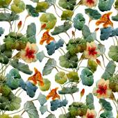 Watercolor flowers pattern — Stock Vector