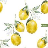 Lemon pattern3 — Stock Vector