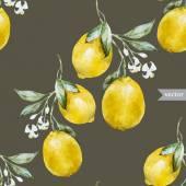 Lemon pattern4 — Stock Vector