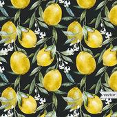 Lemon pattern6 — Stock Vector