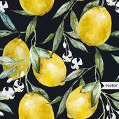 Lemon pattern8 — Stock Vector