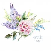 Lilac bouquet — Stock Vector