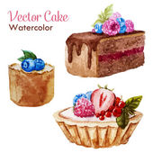 вкусные торты — Cтоковый вектор