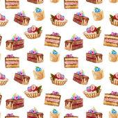 Lezzetli kek — Stok Vektör