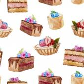 Deliciosos pasteles — Vector de stock