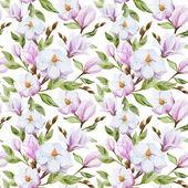 Magnolia pattern — Stock Vector