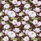 Magnolia pattern — Stock Vector