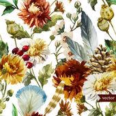 Boho flowers — Stock Vector
