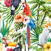 Aves tropicales — Vector de stock