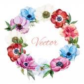 Nice Anemones wearth — Stock Vector