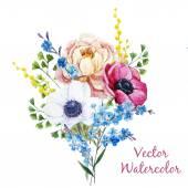 Anemones flowers — Stock Vector