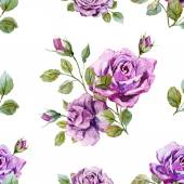 Gentle roses pattern — Stock Vector