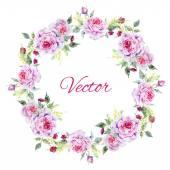 Nice rose wreath — Stock Vector