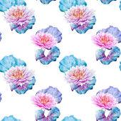 Lotus flowers pattern — Stock Vector