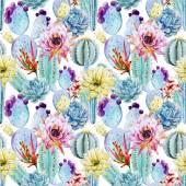 Patrones sin fisuras de cactus — Vector de stock