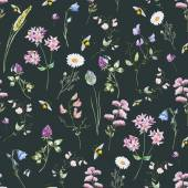 Watercolor wildflower pattern — Stock Vector
