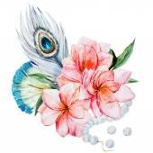 Watercolor flowers — Stock Vector