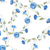 Gentle watercolor floral pattern — Stock Vector