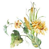 Autumn floral bouqet — Stock Vector
