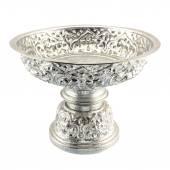 Traditional Thai silverware on white background — Stock Photo