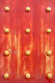 Red Chinese Door texture — Photo