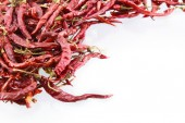 Dry red chilly on white background — Stock Photo