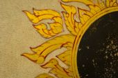 Golden Thai pattern on a ancient Drum surface texture — Stock Photo
