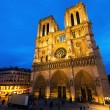 Notre Dame de Paris at Night — Stock Photo #64036245