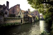 Idyllic Morning in Bruges — Stock Photo