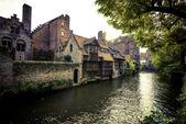Idyllic Morning in Bruges — Foto de Stock