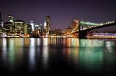 New York City Skyline at Night — Stock Photo