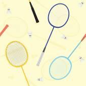 Badminton pattern — Stock Vector
